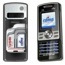 Двухстандартный CDMA/GSM телефон ZTE H500